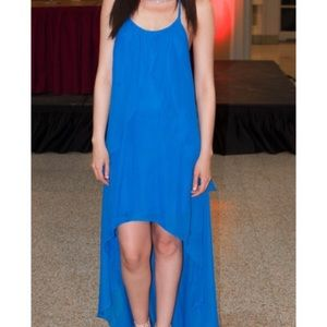 Cache royal blue high low dress